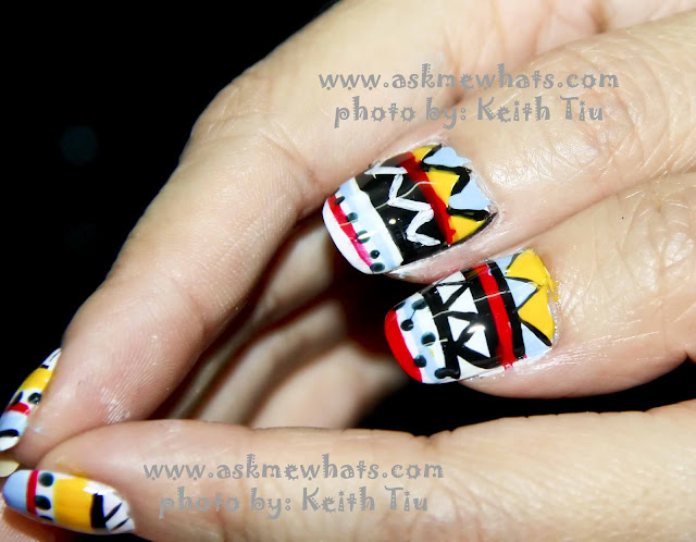 a photo of Aztec Print Inspired Nail Art Tutorial