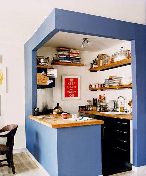 azul na cozinha