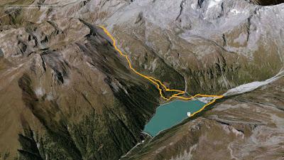 GPS Rifugio ponte d ghiaccio Edelrauthütte
