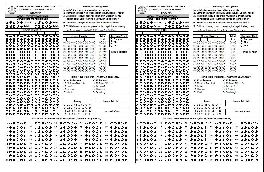 4 Langkah Membuat Desain Ljk Menggunakan Microsoft Excel