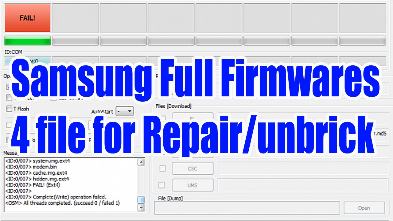 Samsung Full Flash Firmware (Repair Firmware) များ