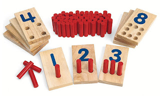Alternative to Montessori Numbers and Counters for children with special needs
