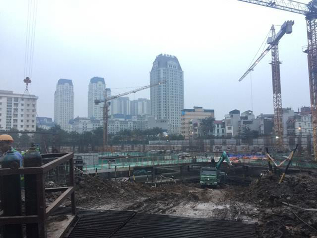 Tiến độ xây dựng chung cư The Emerald Mỹ Đình ngày 06-02-2017