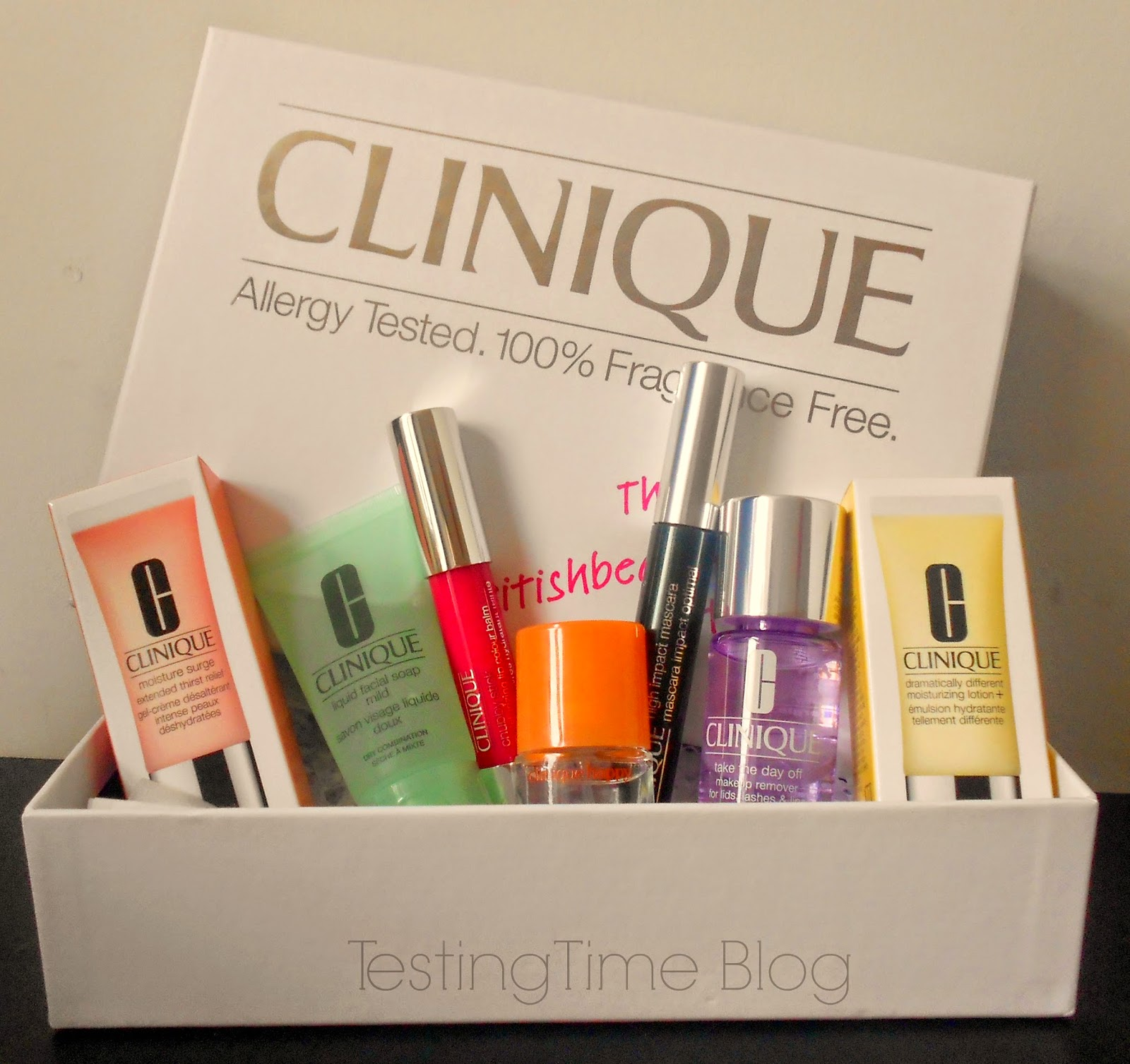 Latest In Beauty British Beauty Blogger Box - Clinique Edit - Testing Time Blog