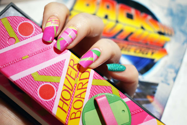 Espionage Cosmetics Nobody Calls me Chicken Back to the Future nerdy nails