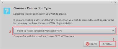 Kemudian cek pada client nya dengan cara membuat koneksi vpn baru, berikut langkahnya