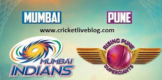 mi vs rps live ipl t20 cricket score 2016