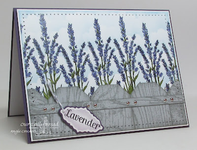 ODBD Lavender, Wood Background, ODBD Custom Ornate Borders and Flower Die Set (sentiment panel), Card Designer Angie Crockett