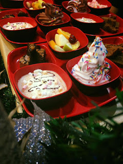 Jeriah Dessert's platter meal