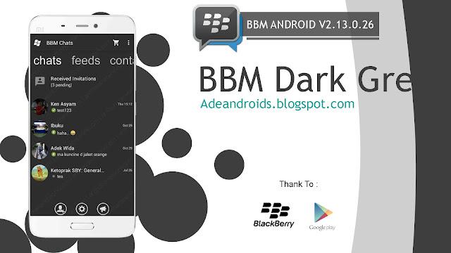 BBM Windows Phone Dark Grey - BBM For Android V2.13.0.22 Apk