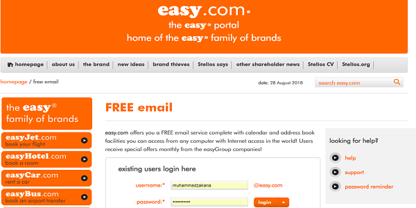 Situs Email Easy.com