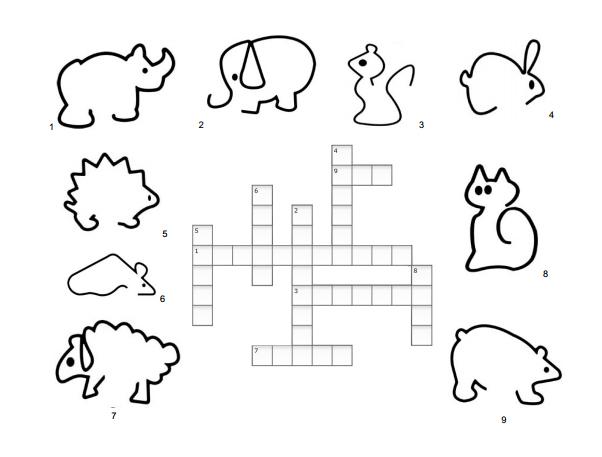 Recursos para el aula de lengua: Crucigrama infantil para imprimir y ...