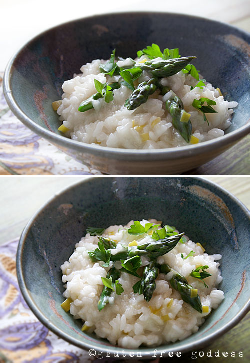 Karina's Asparagus Leek Risotto for Spring #glutenfree #vegan