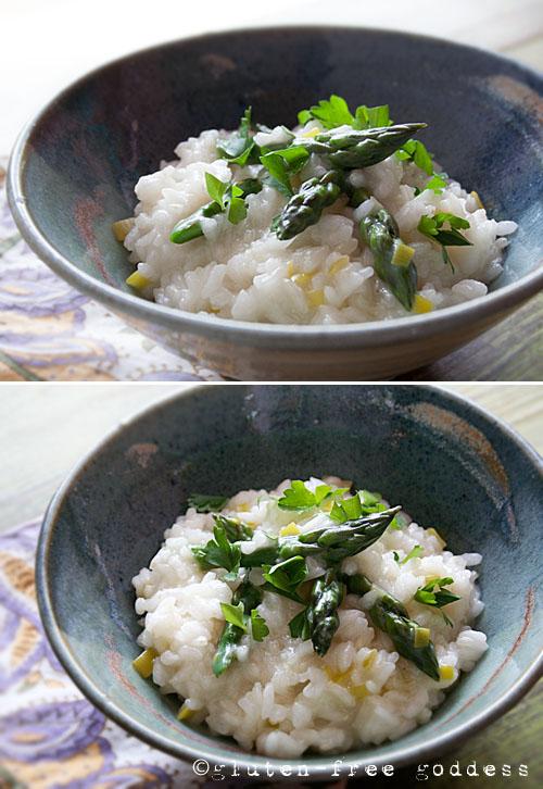 Karina's Asparagus Leek Risotto for Spring #glutenfree #vegan
