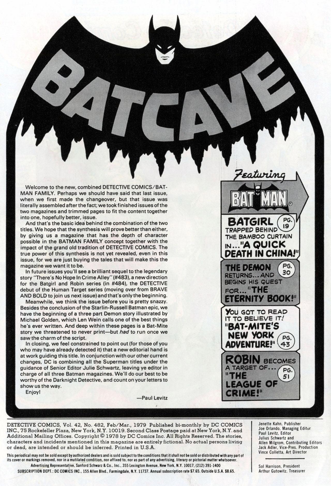 Detective Comics (1937) 482 Page 1