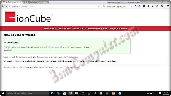 Cara atasi Error ioncube saat install website / script di local host / Xampp