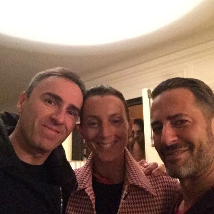 Raf Simons Having Dinner At Marc Jacobs Apartment In Paris Via Instagram Themarcjacobs