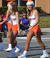 Merritt Island Hooters Girls At Christmas Parade