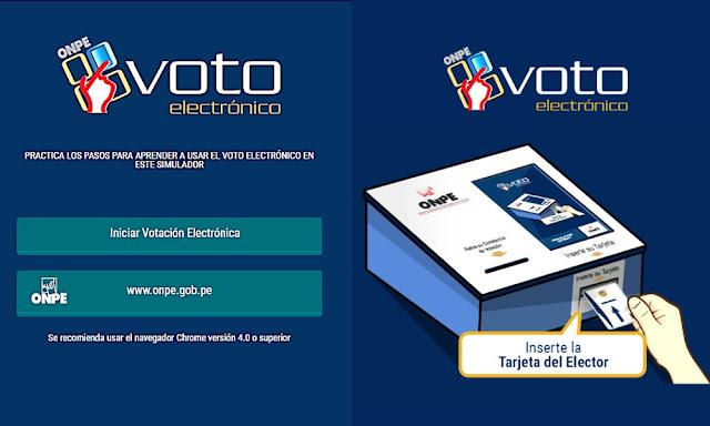 Simulador como será el voto electrónico