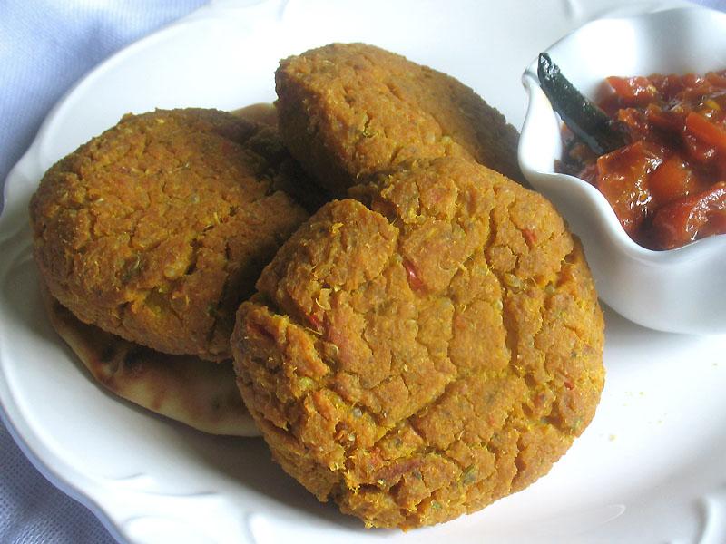 recipe: pumpkin and chickpea patties [21]