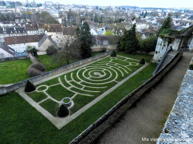 Los jardines de Evecha, Chartres, Francia
