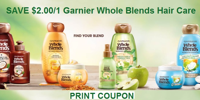 $2 off garnier whole blends coupon