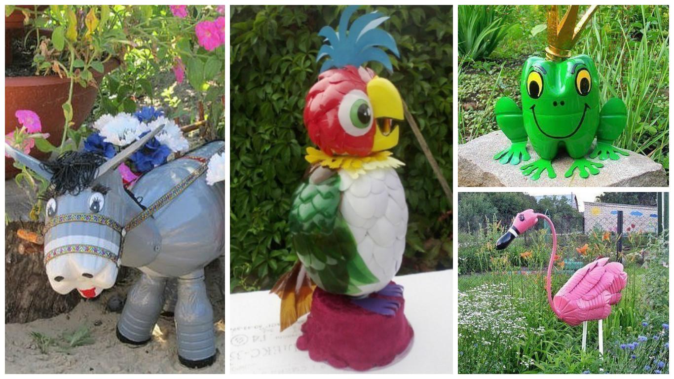 C mo hacer figuras de animales con botellas de pl stico - Que se puede hacer con botellas de plastico ...