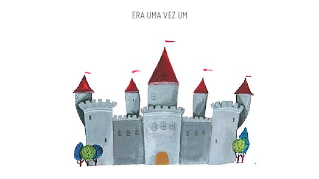"""Primeira página do livro infantil """"Era Uma Vez Um Castelo"""", dica para Leitura Compartilhada."""