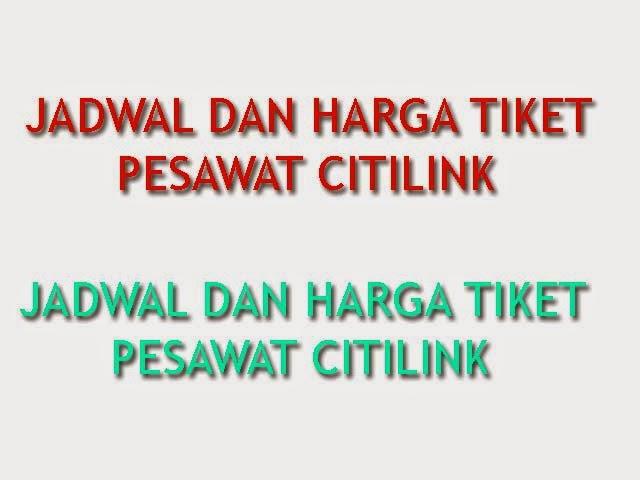 Jadwal Dan Harga Tiket Pesawat Citilink Jakarta Medan 24