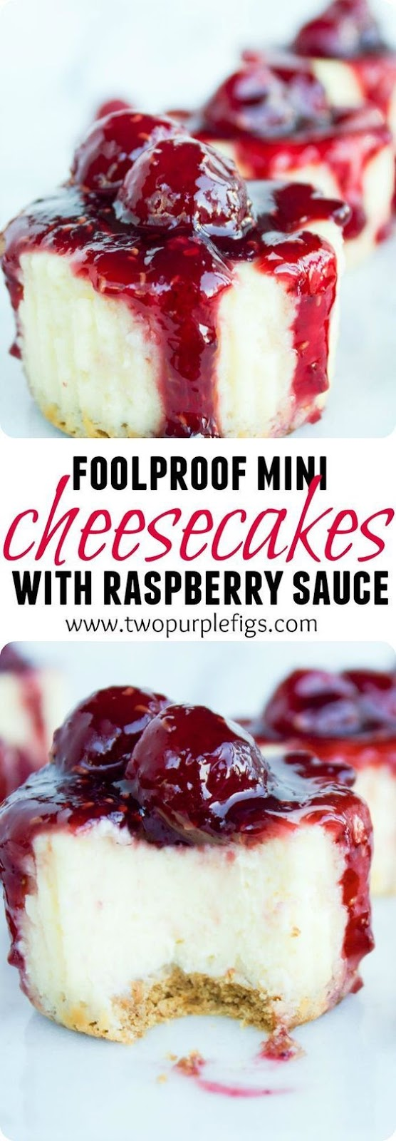 Mini Raspberry Cheesecakes