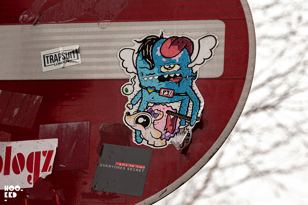 Brick Lane Street Art - Sticker Art Artist Unknown