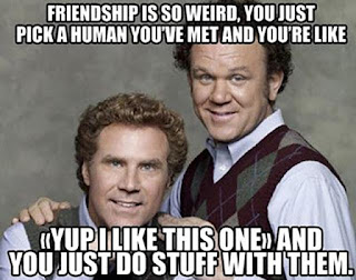 Friendship is weird