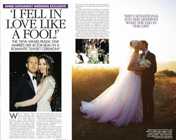 Anne S Wedding: Anne Hathaway's Bridal Look