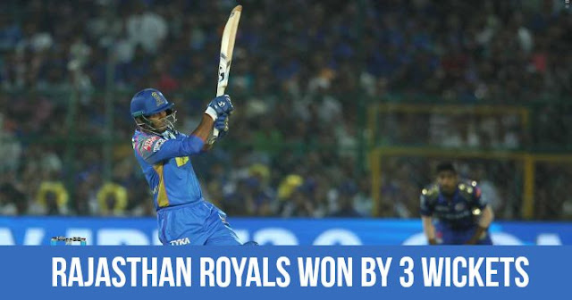 Rajasthan Royals won by 3 Wickets