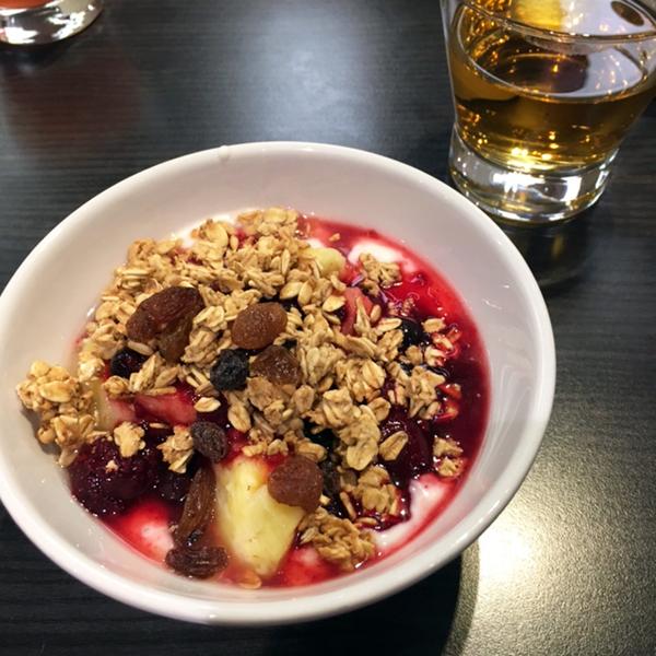 a hotel breakfast