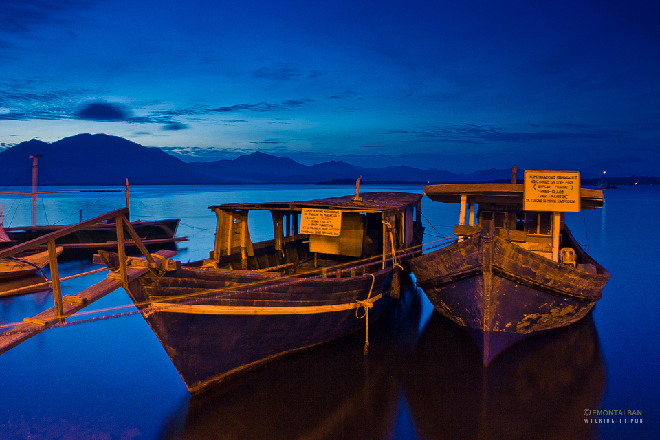 Blue hour shot at Puerto Princesa Baywalk