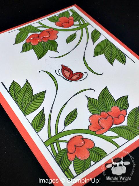 Card, Serene Garden, Stampin' Blends, Clean & Simple