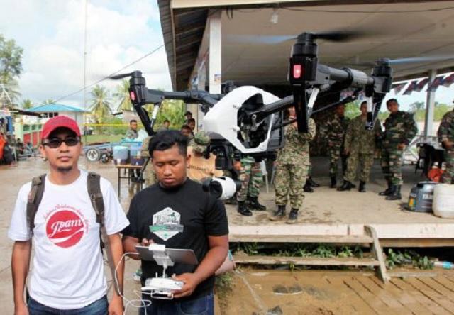 Dron Bantu Operasi SAR Heli Terhempas Di Batang Lupar