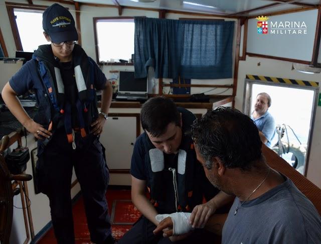 Supporto medico della fregata Espero in Mediterraneo Centrale