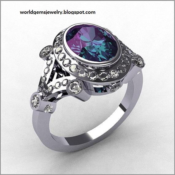 Engagement Ring Alexandrite Engagement Rings 17