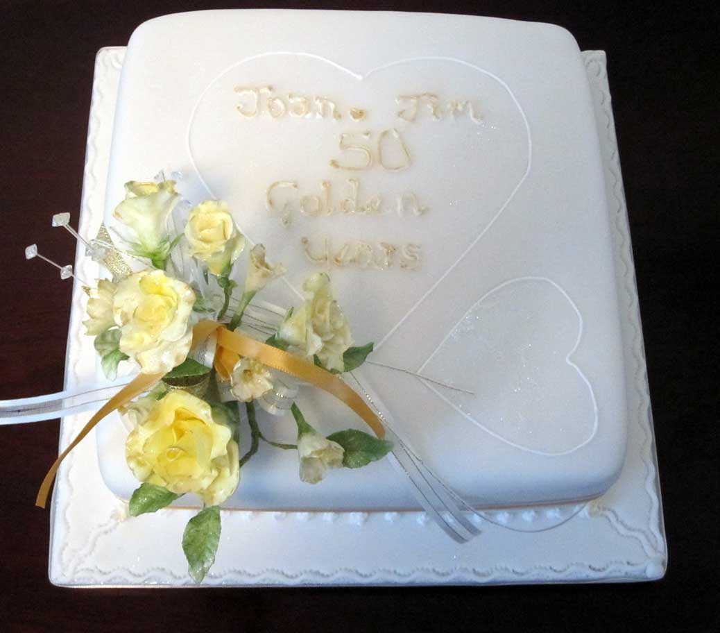Cakes And Al Golden Wedding Cake