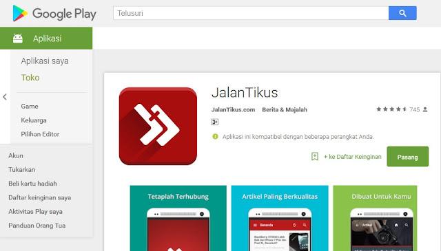 Jalantikus.com mobile apps in Google Playstore