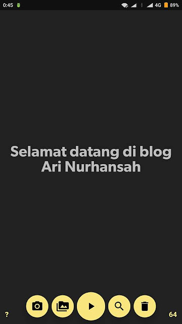 Edit Opening video di android