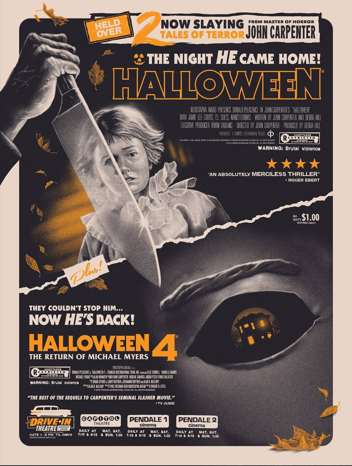 Halloween 1978 Movie Poster.The Horrors Of Halloween H40 Halloween 40 Years Of Terror