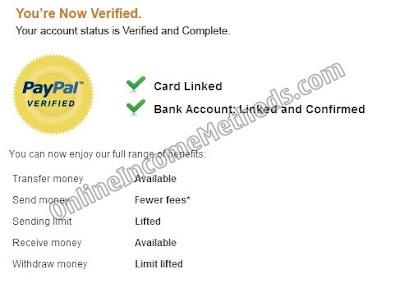 PayPal Verified Payoneer
