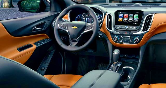 Chevrolet Equinox Turbo 2018 cabina espacio interior