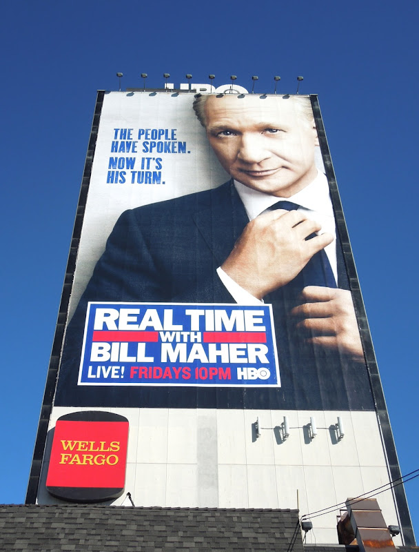 Giant Real Time Bill Maher billboard
