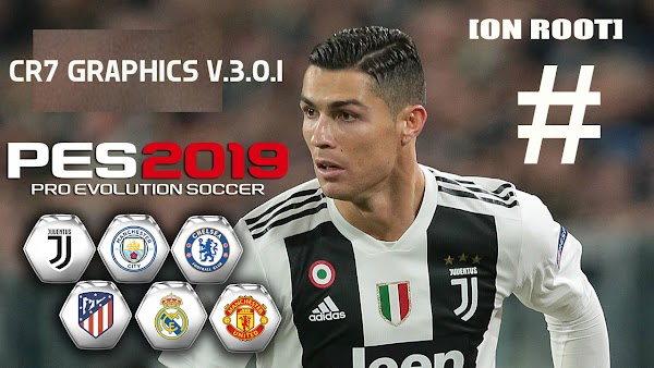 PES 2019 Mobile V3.1.0 PATCH CR7 GRAPHICS Menu Android Full Kits Updated [NO ROOT]