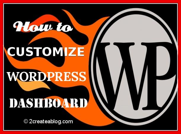 How to Customize WordPress DashBoard