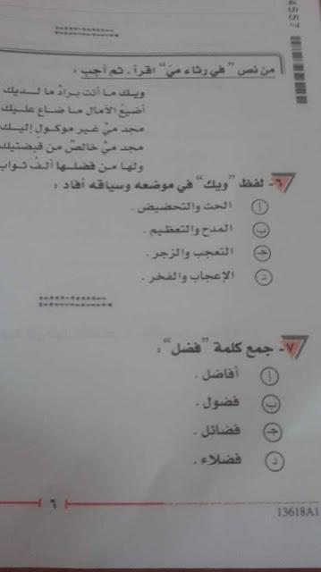 بالصور نموذج امتحان اللغة العربية لطلاب الثانوية العامة 2018